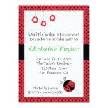 Ladybug and Polka Dots Birthday Party Card