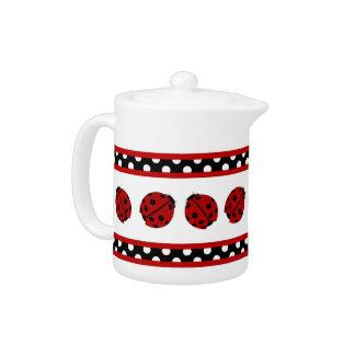 Ladybug and Polka Dots Teapot