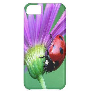 Ladybug And Purple Flower Cover For iPhone 5C