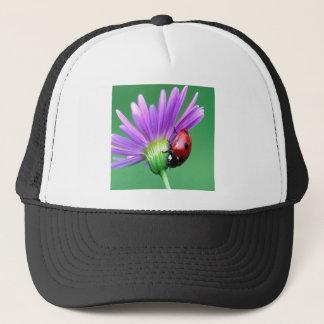 Ladybug And Purple Flower Trucker Hat