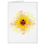 Ladybug and Sunflower Blank Note Card