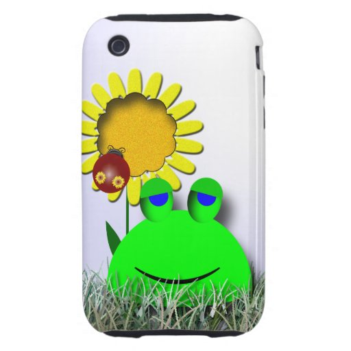 Ladybug and Sunflower Tough iPhone 3 Covers