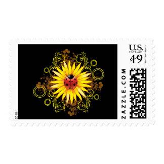 Ladybug and Sunflower Postage