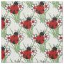 Ladybug and Two Daisies Fabric