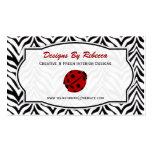 Ladybug and Zebra Business Card