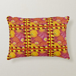 Ladybug Art Accent Pillow