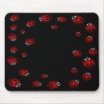 Ladybug Art Mousepad Bug Keepsake Ladybug Gifts