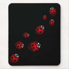 Ladybug Art Mousepad Bug Keepsake Ladybug Gifts at Zazzle