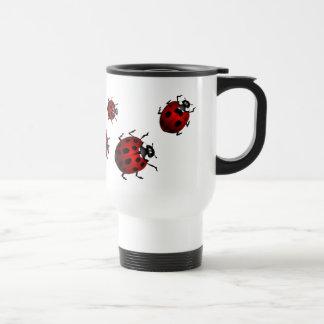 Ladybug Art Travel Mug Beer Glass Ladybug  Cup