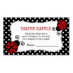 Ladybug Baby Shower Diaper Raffle Ticket Business Card
