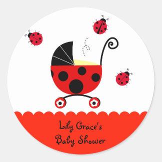 Ladybug Baby Shower Favor Stickers Labels