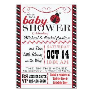 ladybug baby shower invitation 5
