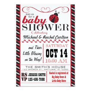 Ladybug baby shower invitations zazzle ladybug baby shower invitation filmwisefo