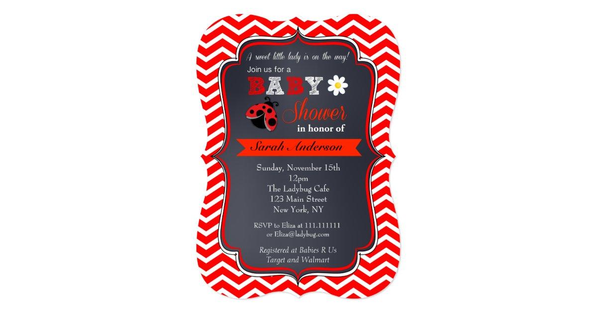 Ladybug Baby Shower Invitations | Zazzle.com