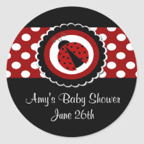 Ladybug Baby Shower or Birthday Stickers