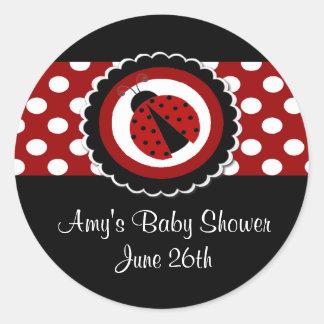 Ladybug Baby Shower or Birthday Stickers