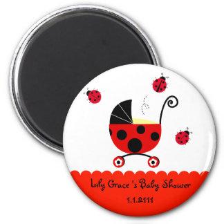 Ladybug Baby Shower Party  Favor Magnets