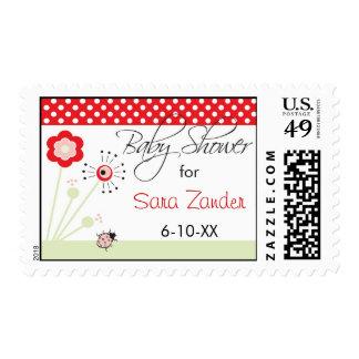 Ladybug Baby Shower Postage Stamp