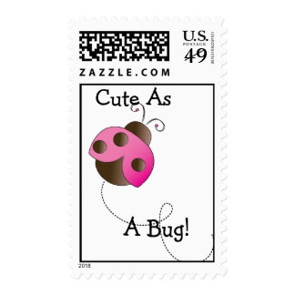 Ladybug Baby Shower Postage Stamps