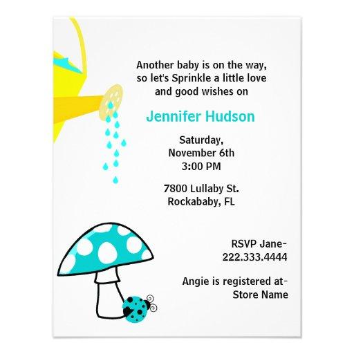 Ladybug Baby Sprinkle Shower Invitation