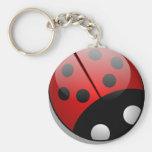 Ladybug Basic Round Button Keychain