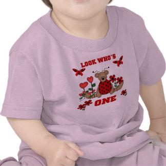 Ladybug Bear 1st Birthday Tshirt