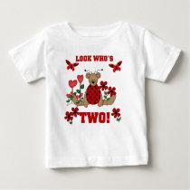 Ladybug Bear 2nd Birthday Baby T-Shirt