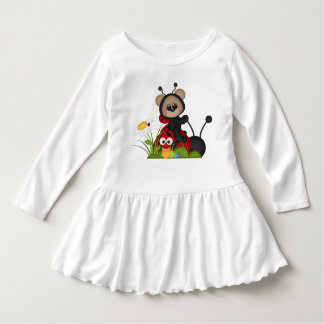 Ladybug Bear Red Black Cute Flowers Snail Dress