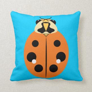 Ladybug Beetle Orange Throw Pillow