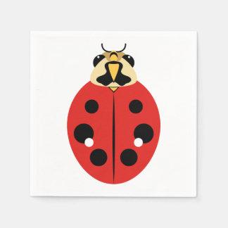 Ladybug Beetle Red Paper Napkin