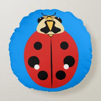 Ladybug Beetle Red Round Pillow
