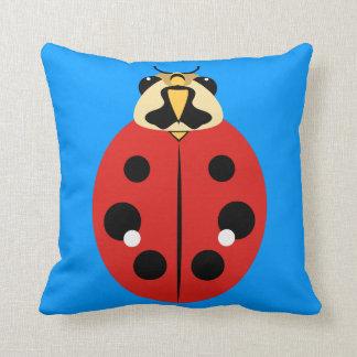 Ladybug Beetle Red Throw Pillow