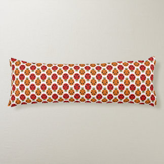 Ladybug Beetles in Orange and Red Body Pillow