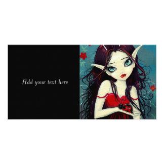 Ladybug Big-Eye Fairy Art Photo Card Template