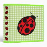Ladybug Binder Vinyl Binder