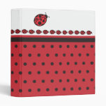 Ladybug Binder Vinyl Binders