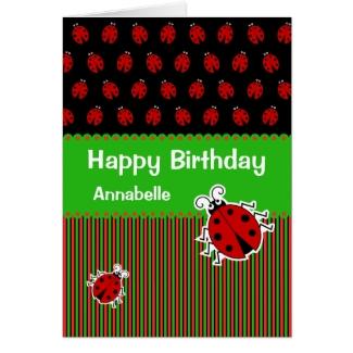 Ladybug birthday custom text modern