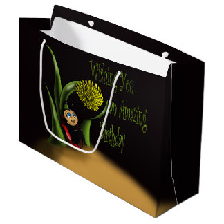 """Ladybug Birthday Gift Bag - Large, Glossy"""