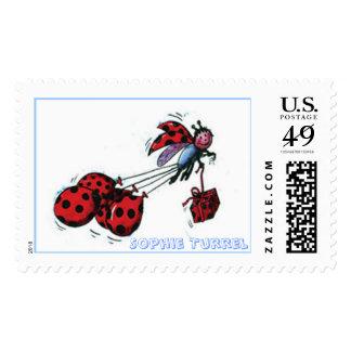 Ladybug BIrthday Greetings by Sophie Turrel Postage