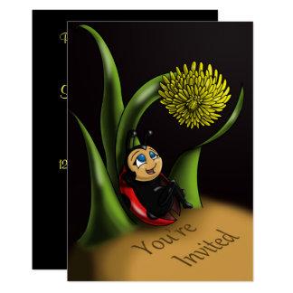"""Ladybug Birthday Invitation"" 5"" x 7"" Cards"