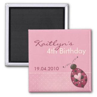 Ladybug · Birthday Invitation Magnet