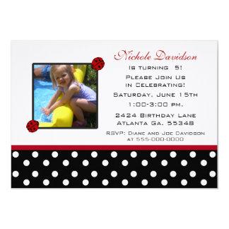 Ladybug: Birthday Party Invitations