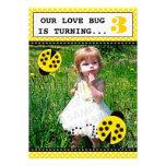 Ladybug Birthday Party Photo Invitations