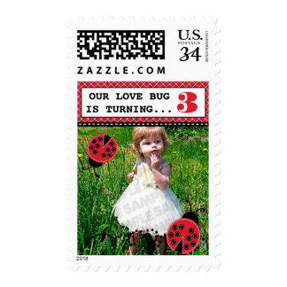 Ladybug Birthday Party Photo Stamps