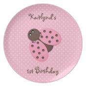 Ladybug Birthday Plate