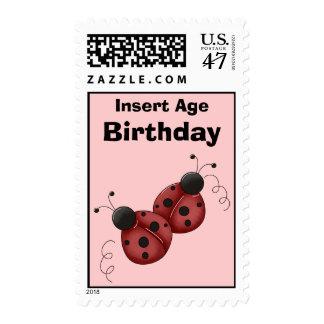Ladybug Birthday Postage Stamps