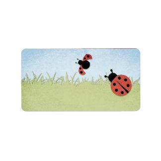 Ladybug Blank Address Label