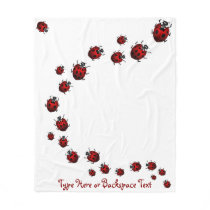 Ladybug Blanket Ladybug Custom Ladybird Blankets