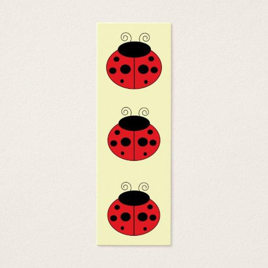 Ladybug Bookmark Mini Business Card