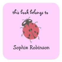 Ladybug bookplate labels